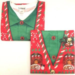 Lot 2 Faux Ugly Sweater Long Sleeve Shirt